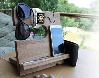 Docking Station iPhone 8 Stand iPhone & tablet Desk organizer iPhone 8 Personalized Docking Station  iphone docking Charging Station