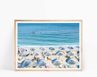 Beach Aerial View Print, Beach Photo, People on Beach, Beach Print, Coastal Decor, Beach Wall Art, Seaside Photo, Beach Art, Coastal Print