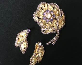 Hobe Earrings and Brooch Set