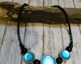 Necklace with beautiful Polaris beads