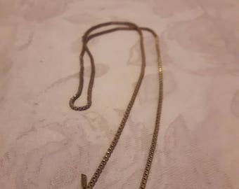 Vintage Monet Chain Necklace - Gold Tone - Collar Necklace - Fine Chain Necklace - 1970s