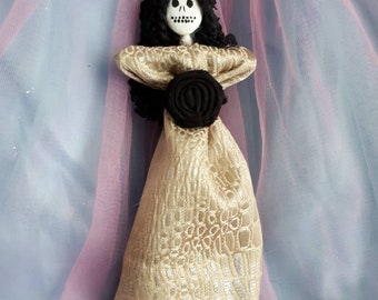Authentic Voodoo Doll, one of a kind art Doll, New Orleans Inspired blessed for fertility rebirth and protection from evil original