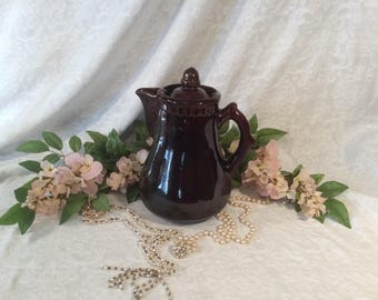 Ceramic Coffee or Tea Pot with Metal Filter/Diffuser