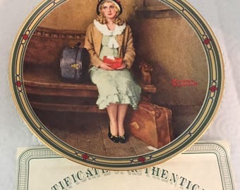 """Vintage """"A Young Girl's Dream"""", Edwin M. Knowles Fine China, 1985, Rockwell's American Dream Collection by Norman Rockwell"""