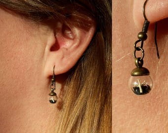 Extra Tiny Terrarium Drop Earrings