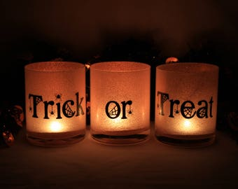 Halloween Decorations, Halloween Decoration Sets, Halloween Decor, Candle Set, Halloween Candles, Halloween Candle Holder, Trick or Treat