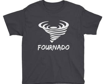 Fournado Tornado Four Year Old Birthday Party 4 Yr Old Fourth Bday Outfit Gift Idea Nature Tornadoes Toddler Preschooler Boys Girls T Shirt