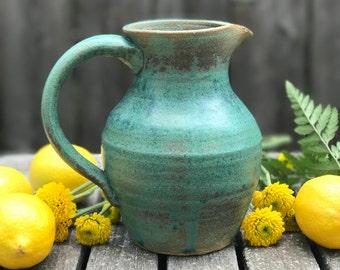 Handmade Turquoise Pitcher