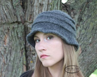 Crochet Pattern for Gettysburg Felted Fishtail Cloche