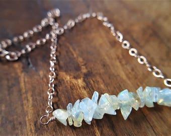 Opal And Rose Gold Bracelet, Ethiopian Opal, Opal Chips, Opal Bracelet, Dainty Bracelet, Layering Bracelet, Unique Bracelet