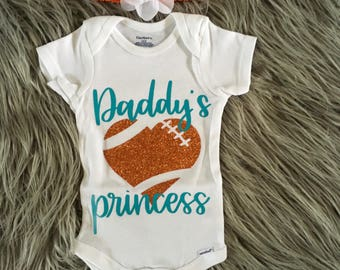 Daddy's Princess football onesie