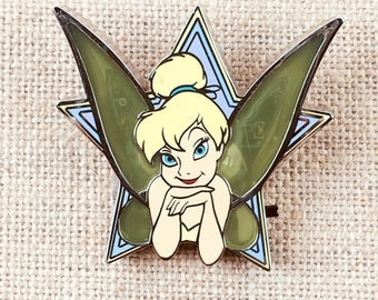Tinker Bell Light Up Wings Stained Glass Star Large Disney Pin Collector