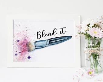 Makeup Brushes, Makeup Brush Holder, Bathroom Vanity, Fashion Wall Art, Makeup Vanity, Makeup Decor, Makeup Organizer, Makeup Brush, Makeup