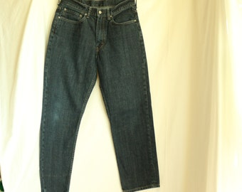 "Levi's 550 32"" x 30""  dark wash cotton denim. Summer of Love 50th Anniversary Sale. Just 19.67"