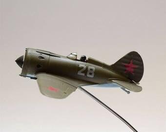 I-16 soviet russian fighter ww2 1/72  Gift Souvenir