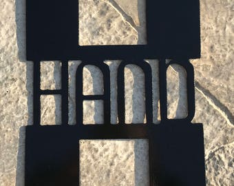 Last Name Monogram Sign