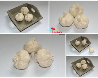 garlic, toy, amigurumi, handmade, gift, stuffedtoy, crochettoy, developmentaltoys