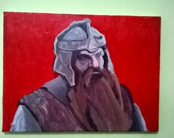 Gimli Lord of the Rings Painting