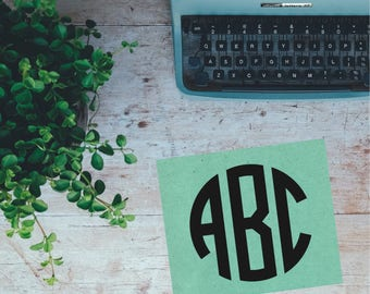 Monogram WITHOUT Frame Vinyl Decal