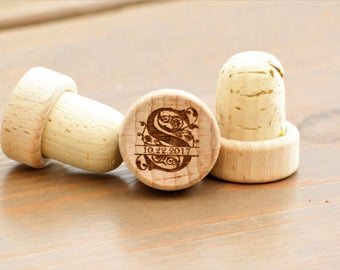 Monogram Wine Stoppers, Wedding Favors for Guests, Monogram Wedding Favors, Engraved Wine Stoppers, Personalized Wine Stoppers, Wine Cork