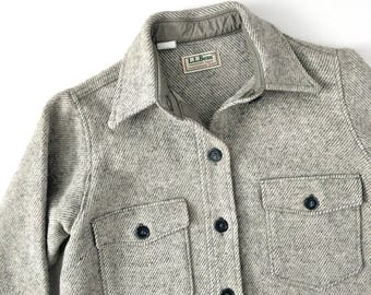 vintage 1970s  L.L. Bean wool jacket | grey wool camp shirt | heavy wool