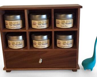 Tea Gift Set - Solid American Black Walnut chest