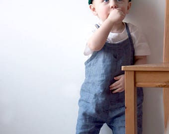 Kids and baby linen overalls