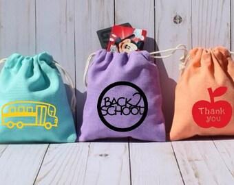 Preschool Teacher Gift, Teacher Gift Card Holder, Teacher Christmas Present, Teacher Appreciation, Personalized Teacher Gift Bag, School Bus