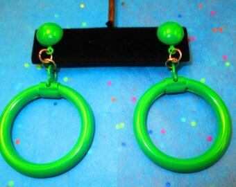 Vintage Bold Green Earrings