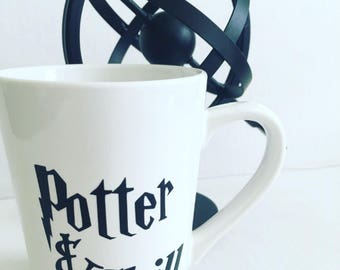 """Harry Potter coffee mug, """"Potter and Chill"""", coffee mug, personalized Harry Potter mug, Harry Potter mug"""