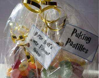 Harry Potter inspired sweet bags,perfect for birthdays,back to school gift,enjoy on the Hogwarts Express. Warning: not suitable for muggles!