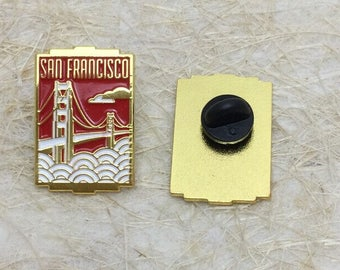 San Francisco California Travel Enamel Lapel Pin