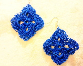 Crochet Earrings, Handmade Earrings, Lace Earrings, Dangle Earrings, Crochet Jewelry