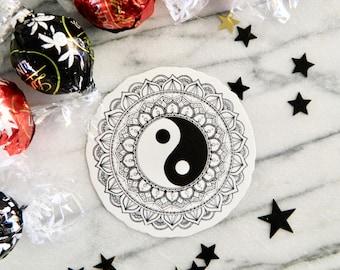 Ying Yang Mandala - Sticker Design