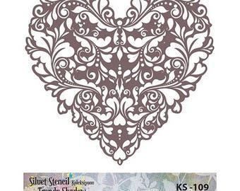 Stencil Masking, KS 109,  25x24 cm, mask stencils, fabric stencil.