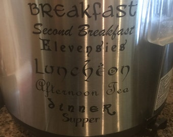 Lord of the Rings Instant Pot decal