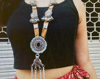 Afgani tribal long neck piece
