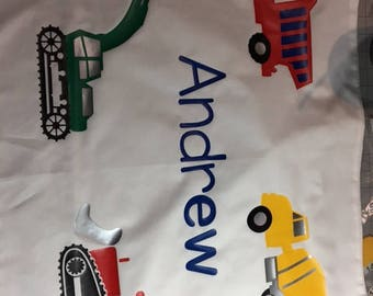 construction themed pillowcases