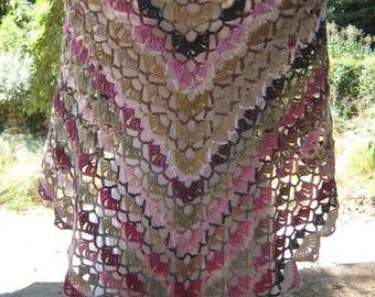 Shawl summer Lace crochet Shawl white shawl victorian shawl gradient yarn beach shawl country shawl spring shawl fashion Drops Lilith