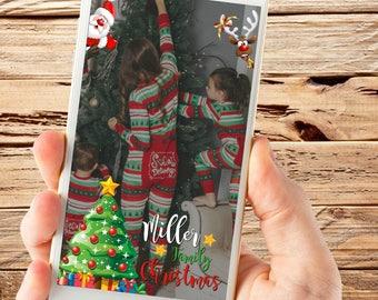 Christmas Snapchat Filter, Christmas Geofilter, Christmas Dinner, Christmas filter