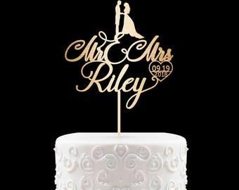 Customized Wedding Cake Topper, Personalized Cake Topper for Wedding, Custom Personalized Wedding Cake Topper, Mr and Mrs Cake Topper 6