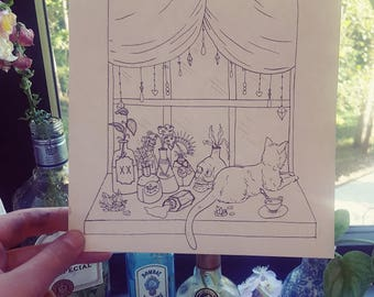 A Witch's Window Art Print