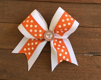 Texas Cheerbows, College Cheerbows, Texas Hairbows, Girls hairbow accessories, School HairBows, Back to School HairBows, Kids hairbows