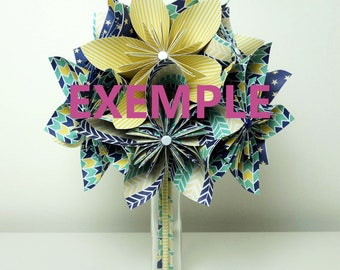 gift idea for woman origami bouquet
