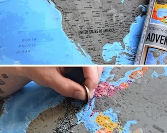 Scratch world map  Etsy