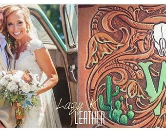 MADE TO ORDER custom leather bouquet wrap