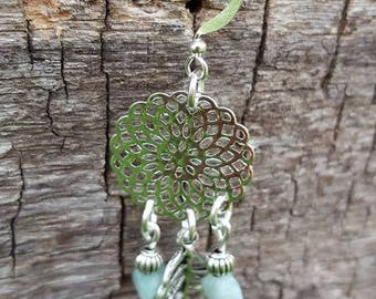 Mandala Aventurine earrings
