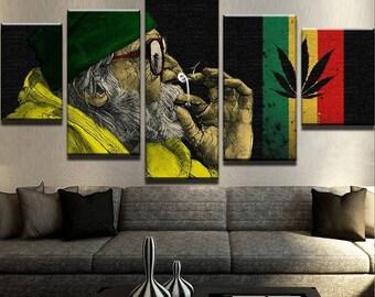 Ganja Man Canvas Set Weed Canvas Set Weed Wall Decor Weed Wall Print Cannabis Wall Decor Cannabis Canvas Set Cannabis Poster Weed Poster