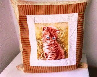A cat Cushion cover / make hand/S 87