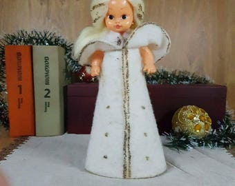 Christmas Doll - White Doll - Snow White - Christmas Princess - Grandpa Christmas helper - Christmas decorations - Christmas toy.